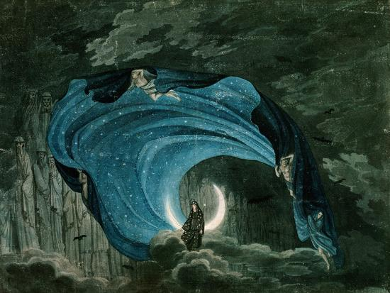 Setting for the Appearance of Astrofiammante, Queen of the Night, from Mozart's 'Magic Flute',…--Giclee Print