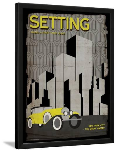 Setting (Great Gatsby) - Element of a Novel-Christopher Rice-Lamina Framed Art Print