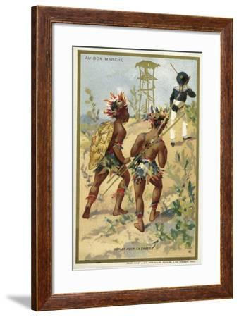 Setting of on a Hunt--Framed Giclee Print
