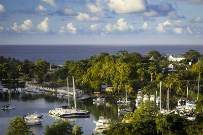 Setting Sun over the Tiny Harbor in Castries, St. Lucia, West Indies-Brian Jannsen-Photographic Print