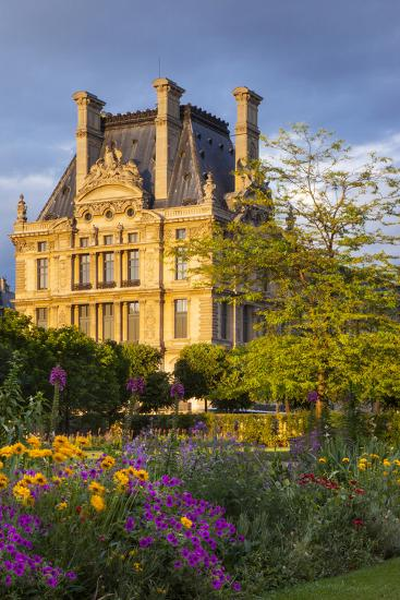 Setting Sunlight on Musee Du Louvre and Jardin Des Tuileries, Paris, France-Brian Jannsen-Photographic Print