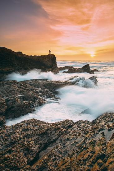 Setting Sunscapet at Monta?a de Oro, Morro Bay California Coast-Vincent James-Photographic Print
