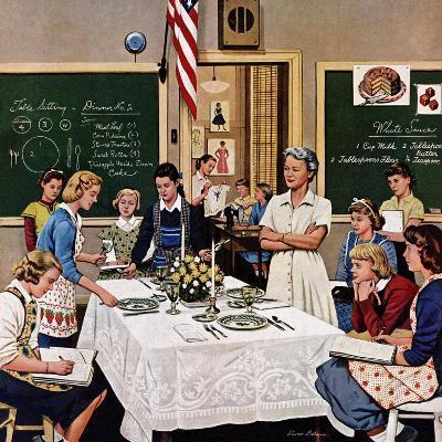 """Setting the Table"", February 16, 1957-Stevan Dohanos-Giclee Print"