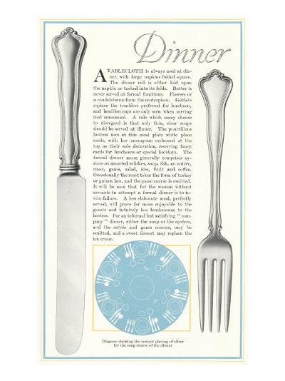 Setting the Table for Dinner--Art Print
