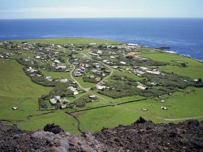 Settlement from the 1961 Volcanic Cone, Edinburgh, Tristan Da Cunha, Mid Atlantic-Renner Geoff-Photographic Print