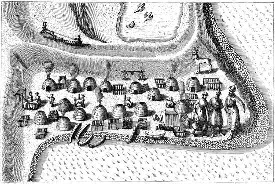 Settlement in Russian Lapland, 1594-Jan Huygen Von Linschoten-Giclee Print