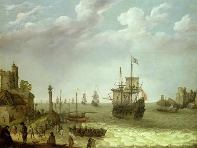 Settlement on a Rocky Shore with the Dutch Fleet Approaching, 1640-Abraham Willaerts-Giclee Print