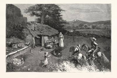Settler's First Home the Far West.-Drawn W. A. Rogers, USA, 1880--Giclee Print