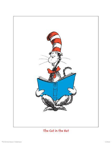 Seuss Treasures Collection III - The Cat in the Hat (white)-Theodor (Dr. Seuss) Geisel-Art Print
