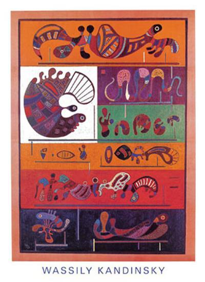 Seven, 1943-Wassily Kandinsky-Art Print