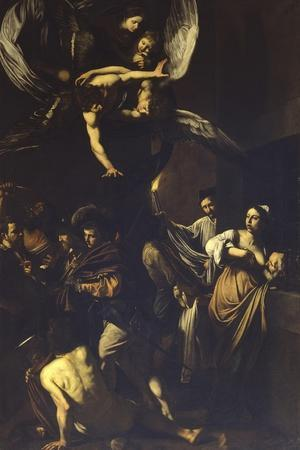 Seven Acts of Mercy-Caravaggio-Art Print