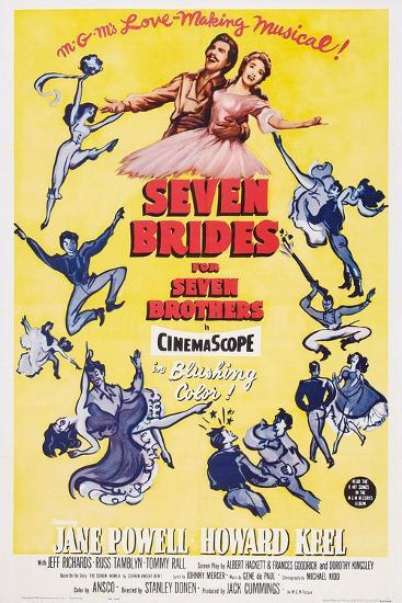 Seven Brides for Seven Brothers, 1954--Art Print