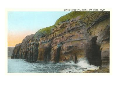 Seven Caves, La Jolla, California--Art Print