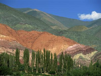 Seven Colours Mountain at Purmamaca Near Tilcara in Argentina, South America-Murray Louise-Photographic Print