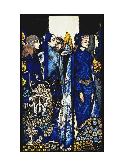 Seven dog-days we let pass, naming Queens in Glenmacnass'-Harry		 Clarke-Giclee Print