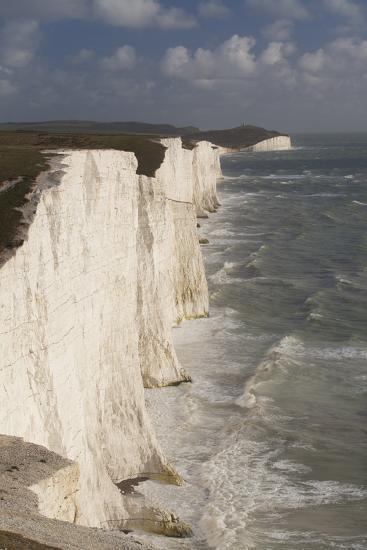 Seven Sisters Chalk Cliffs, South Downs, England-Peter Cairns-Photographic Print