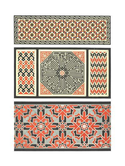Several Bold Fretwork Patterns--Art Print
