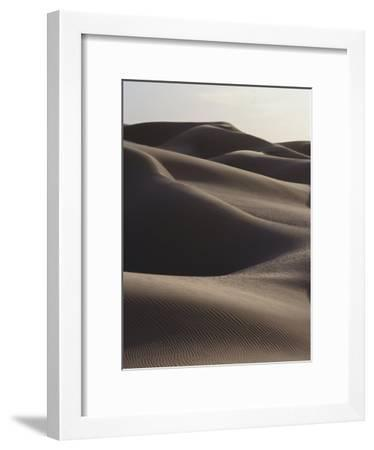 Several Sand Dunes Appear to Rise Like Giant Waves-George F. Mobley-Framed Photographic Print