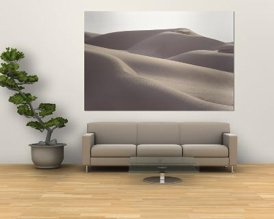 Several Sand Dunes Appear to Rise Like Giant Waves-George F^ Mobley-Giant Art Print