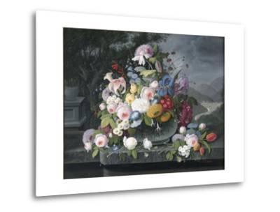 Still Life with Flowers and a Landscape