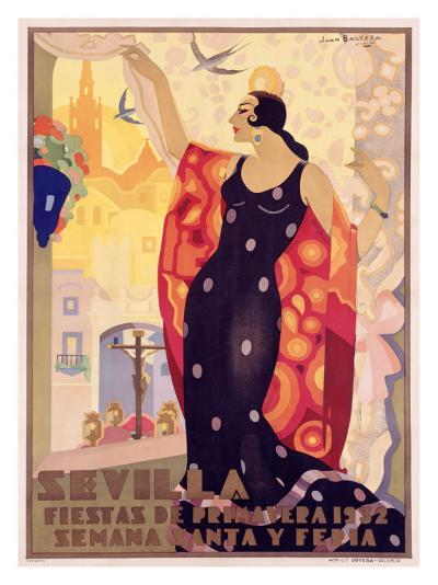 Sevilla, Fiestas Primavera-Juan Balcera de Fuentes-Giclee Print