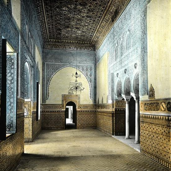Seville (Spain), the Alcazar, the Resting Room of the Moorish Kings-Leon, Levy et Fils-Photographic Print