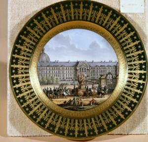 Sevres Plate Depicting the Arrival of the Sword of Frederick II the Great