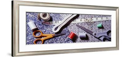 Sewing Items on a Mat--Framed Photographic Print