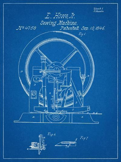 Sewing Machine Patent 1846--Art Print