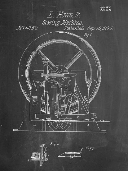 Sewing Machine Patent 40 Art Print By Art Interesting Patent For Sewing Machine