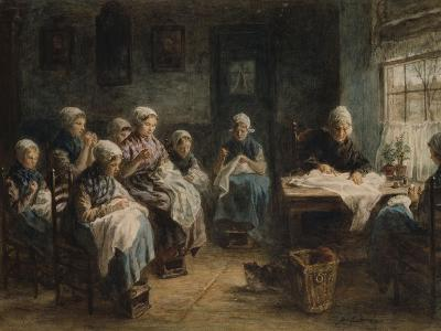 Sewing School at Katwijk-Jozef Israels-Giclee Print
