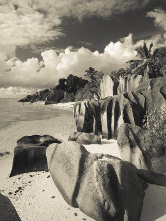 Seychelles, La Digue Island, L'Union Estate Plantation, Anse Source D'Argent Beach-Walter Bibikow-Photographic Print