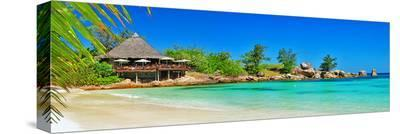 Seychelles-Turquoise Paradise--Stretched Canvas Print