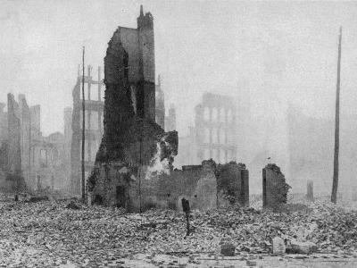 SF Earthquake Photograph--Photographic Print