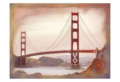 SF Golden Gate Bridge-Jeffery Cadwallader-Art Print