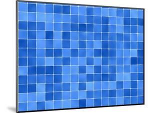 Tiles Mosaic In Blue And White by sfinks