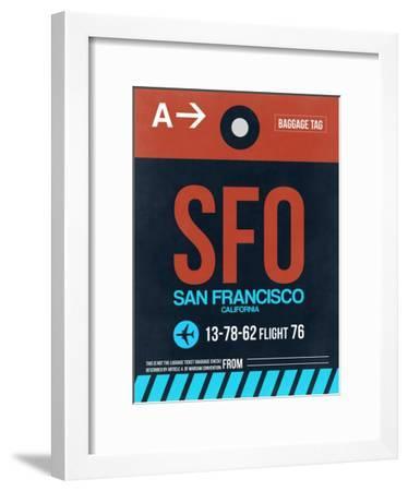 SFO San Francisco Luggage Tag 2-NaxArt-Framed Art Print