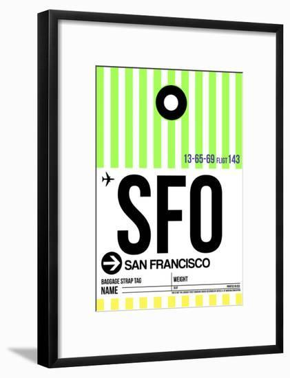 SFO San Francisco Luggage Tag 3-NaxArt-Framed Art Print
