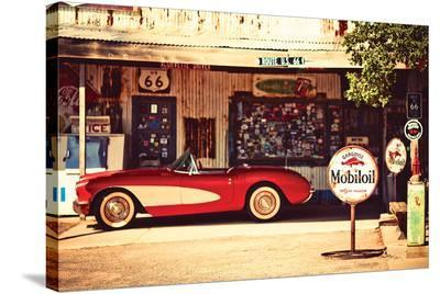 Shade Break on Route 66--Stretched Canvas Print