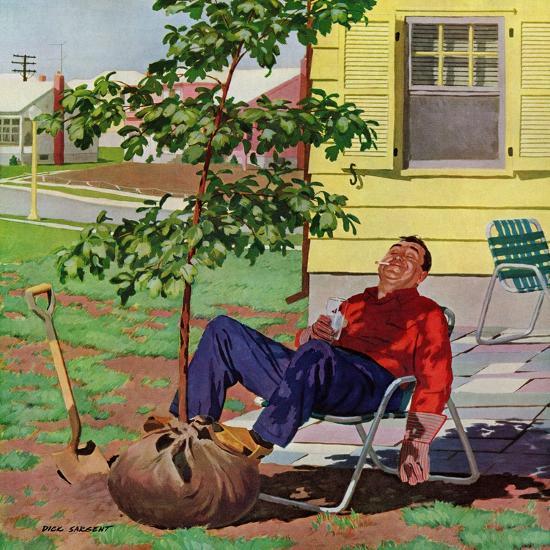 """Shade Tree"", April 12, 1958-Richard Sargent-Giclee Print"