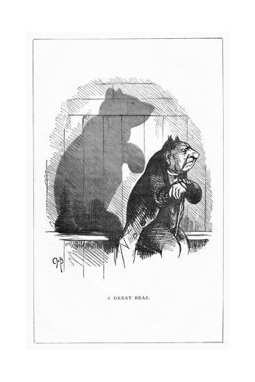 Shadow Drawing. C.H. Bennett, a Great Bear-Charles H Bennett-Giclee Print