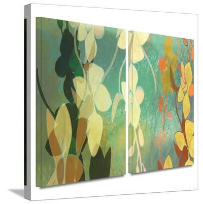 Shadow Florals 2 piece gallery-wrapped canvas-Jan Weiss-Gallery Wrapped Canvas Set
