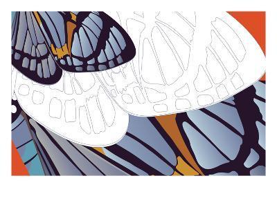 Shadowed Wing of Iris-Belen Mena-Giclee Print