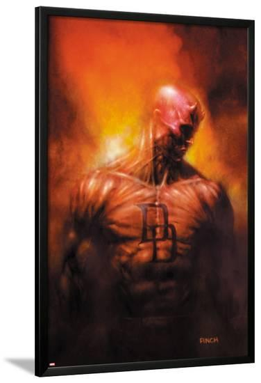 Shadowland: After The Fall No.1 Cover: Daredevil Standing-David Finch-Lamina Framed Poster