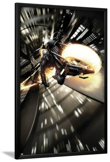 Shadowland: Ghost Rider No.1: Ghost Rider Riding-Clayton Crain-Lamina Framed Poster