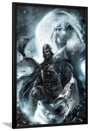 Shadowland: Moon Knight No.2 Cover: Moon Knight Standing-Francesco Mattina-Lamina Framed Poster