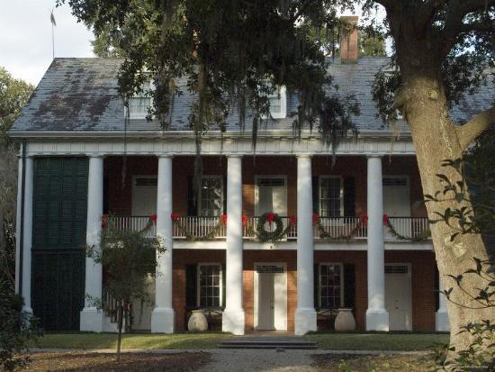 Shadows on the Teche Plantation House, New Iberia, Louisiana, USA-Ethel Davies-Photographic Print