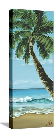 Shady Beach-Pete Tillack-Stretched Canvas Print