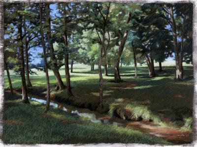 Shady Spot at the Botanical Gardens-Helen J^ Vaughn-Giclee Print