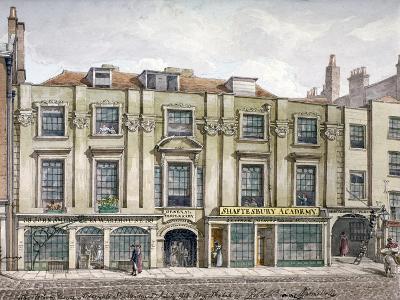 Shaftesbury House, Aldersgate Street, London, 1819-Robert Blemmell Schnebbelie-Giclee Print